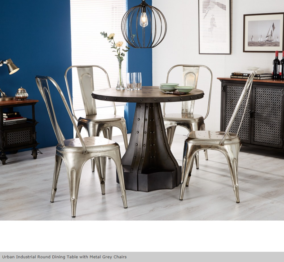 Urban_Industrial_Vintage_Style_Dining_Table_and_Chairs_Metal