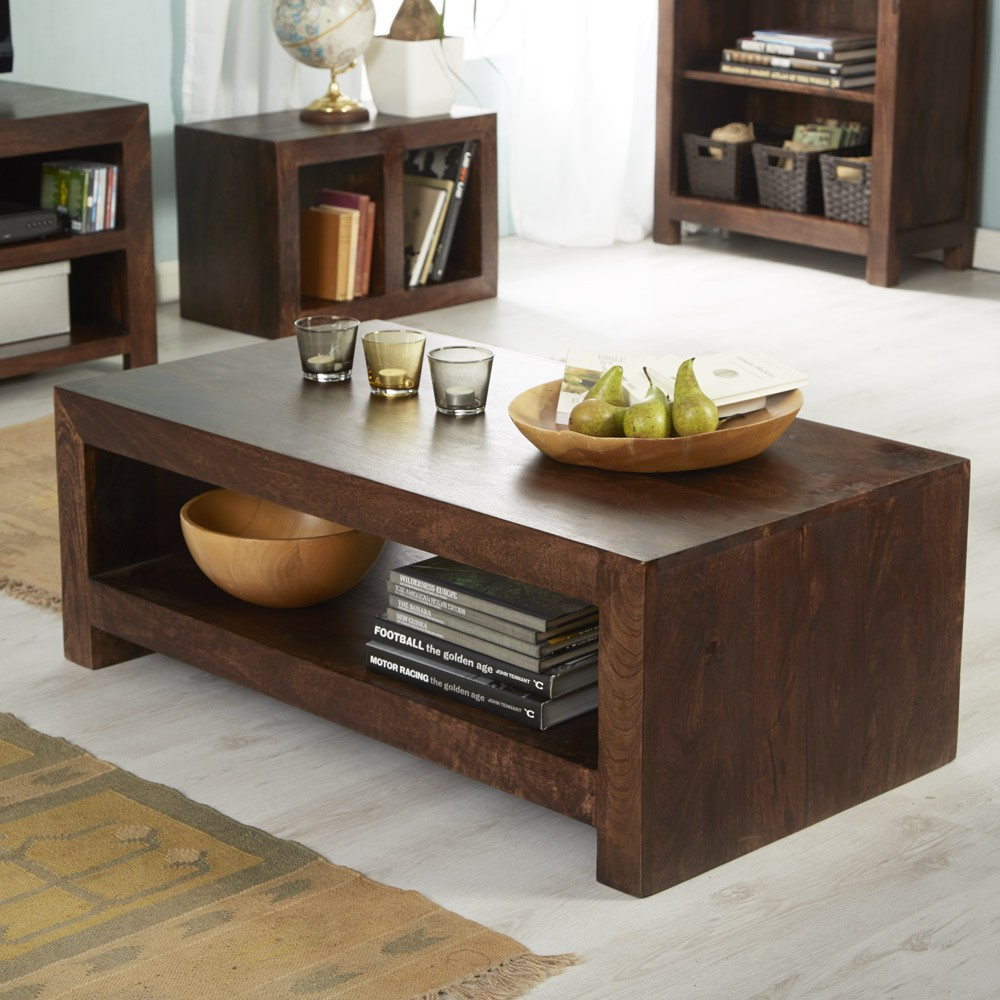 Large Coffee Table Contemporary: Dakota Mango Contemporary Coffee Table Large