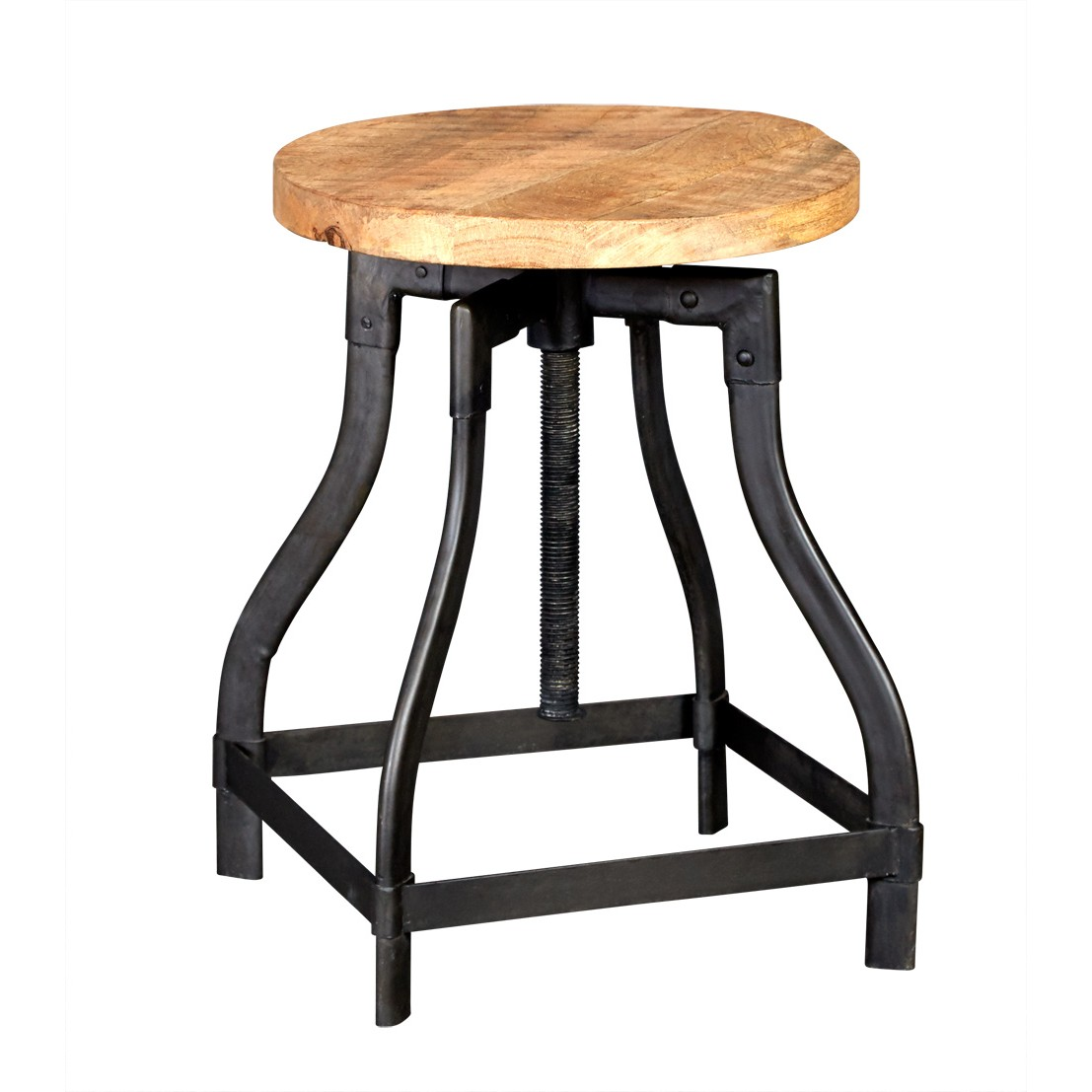 Stool Side Table Upcycled Industrial Vintage Mintis