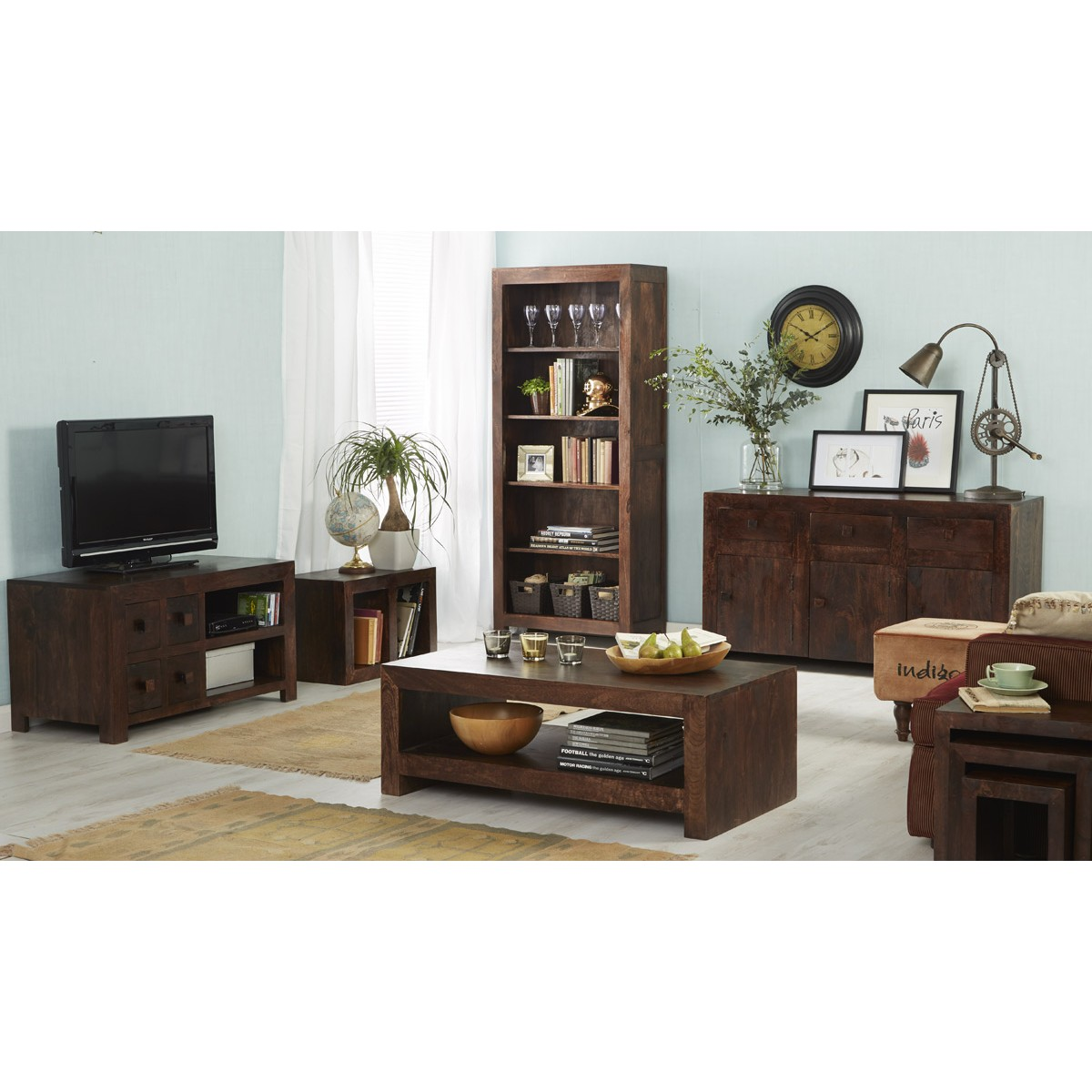Dakota Mango Cubed Nest Of 2 Tables Verty Indian Furniture