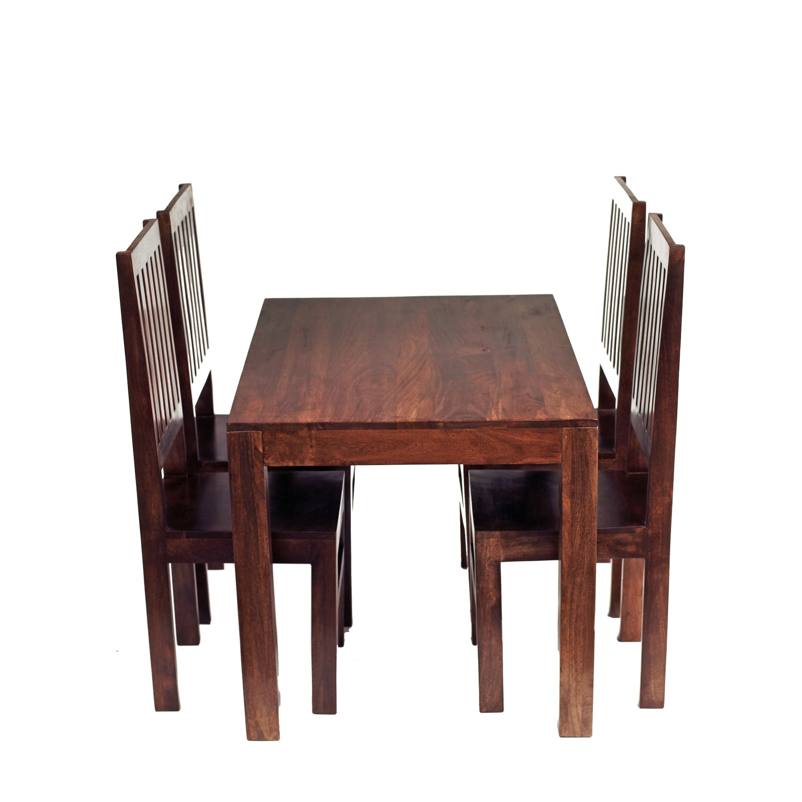 Dakota Mango Dark / Dakota Mango 4 Ft Dining Set With Wooden Chairs. Full resolution  picture, nominally Width 1600 Height 1600 pixels, picture with #8C523F.