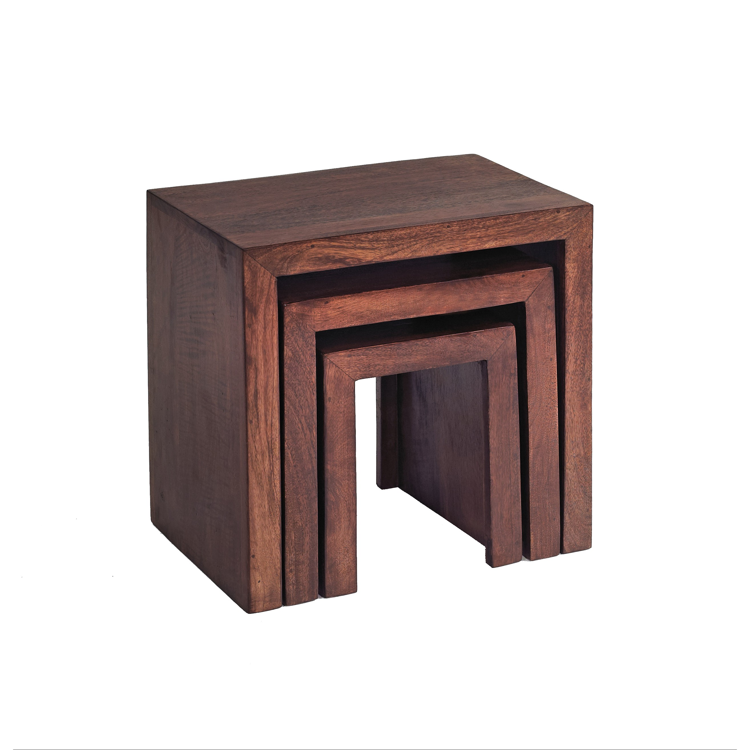 Dakota Mango Nest of 3 Tables - Verty Indian Furniture