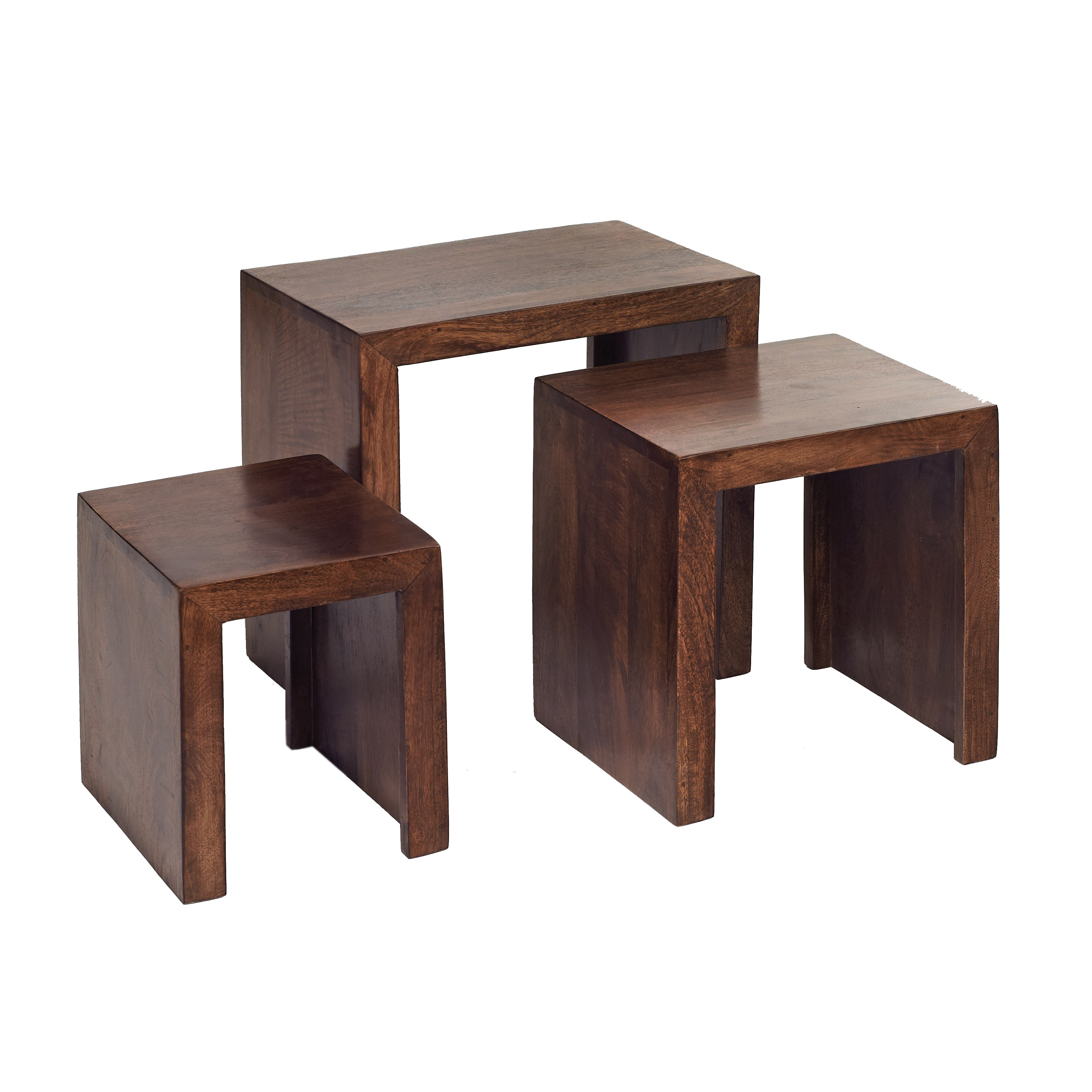 Dakota Mango Nest of 3 Tables Verty Indian Furniture