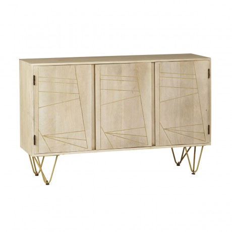 3 Doors Large Sideboard Dallas Light Mango