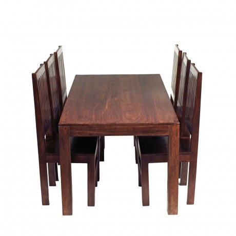 Dakota Mango Ft Dining Set With Wooden Chairs Verty Indian Furniture - 6 foot dining room table