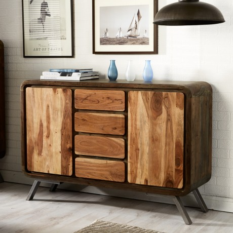 Retro Metal & Wood Sideboard