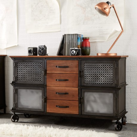 Urban Industrial 4 Drawer Sideboard