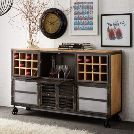Urban Industrial Bar Cabinet