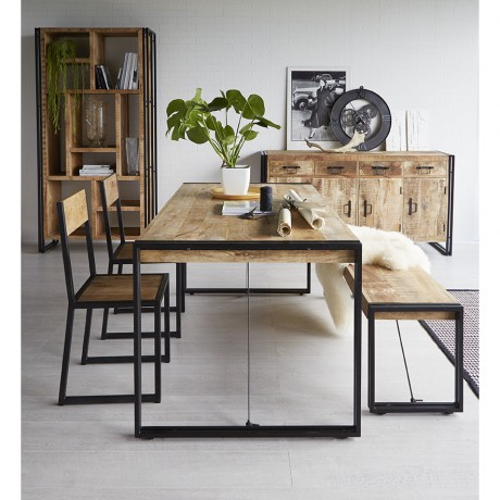 Upcycled Industrial Vintage Mintis Dining Table Set