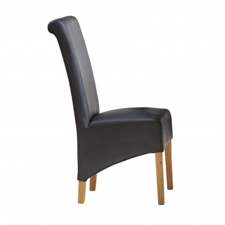Dakota Light Mango Leather Dining Chair ( A Pair )