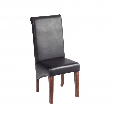 Dakota Mango Leather Dining Chair (Pair)
