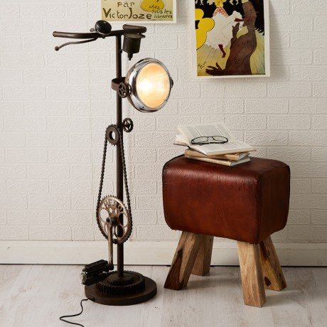 Iron-Cycle Floor Lamp