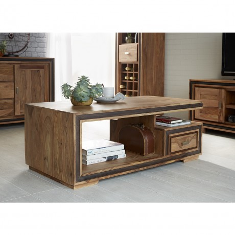 Indus Sheesham Coffee Table with one drawer