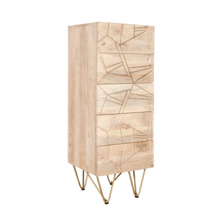 Tall Chest of drawers Dallas Light Mango