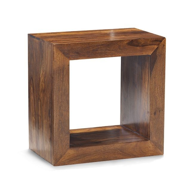 wooden cubes furniture. Cube Sheesham Bookcase - Single Hole Wooden Cubes Furniture