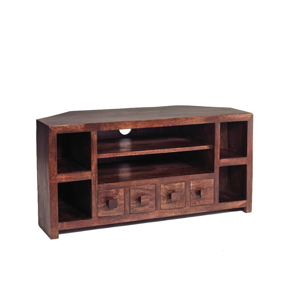 Dakota Mango Corner Tv Unit Verty Indian Furniture