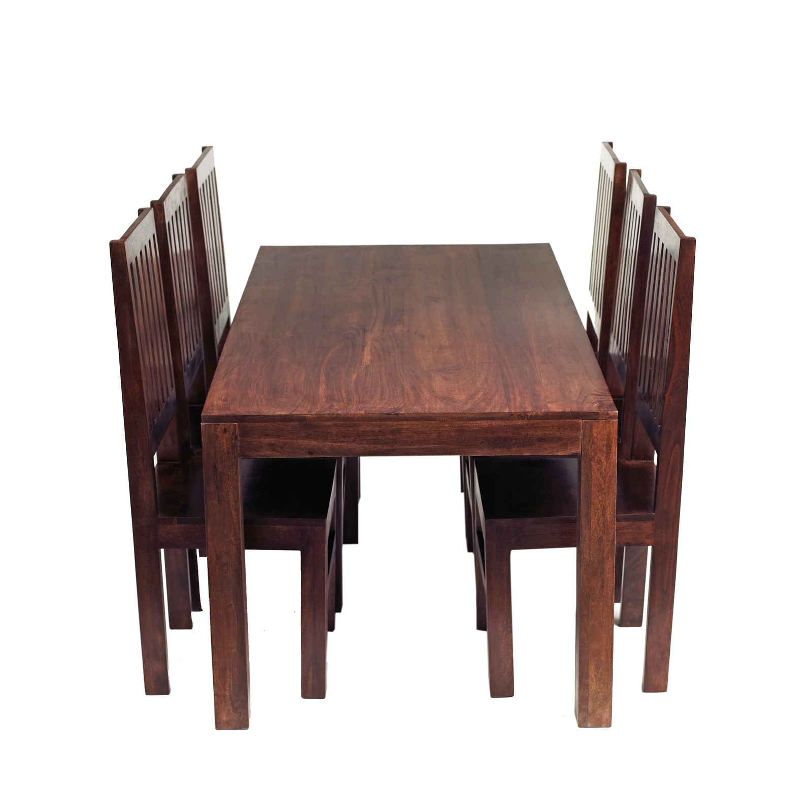 Dakota Mango 6 Ft Dining Set With Wooden Chairs Verty