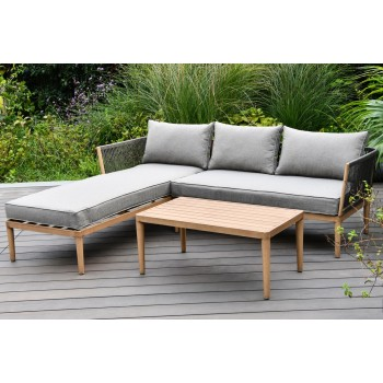 Alicante 3 Seat Chaise Sofa Set