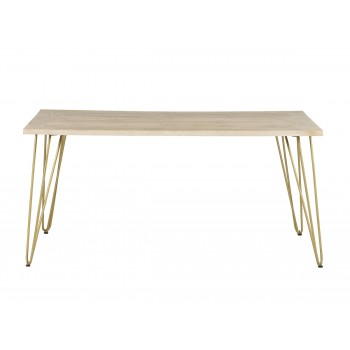 Rectangular 6 Seater Dining Table Dallas Light Mango