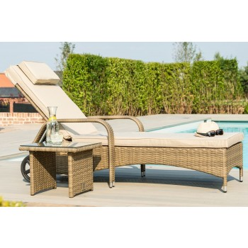 Napa Florida Sunlounger Set / Natural