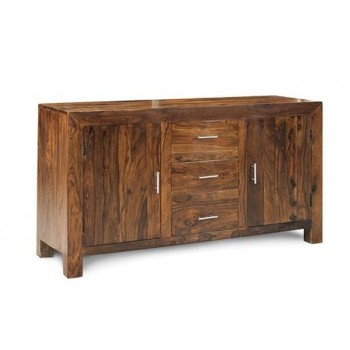 Cube Indian Wood Sideboard - Large