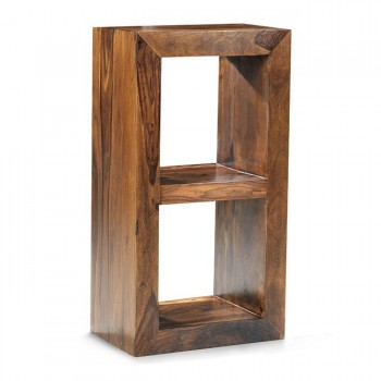 Cube Indian Wood 2 Hole Bookcase