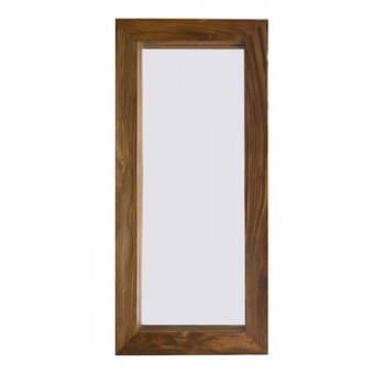 Cube Indian Wood Mirror
