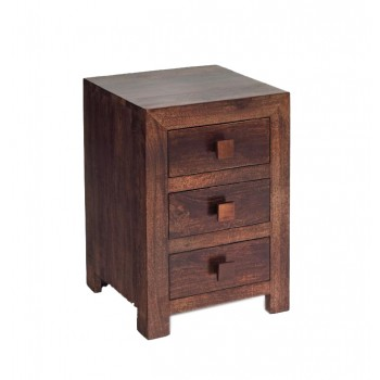 Dakota Mango 3 Drawer Bedside