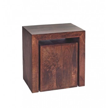 Dakota Mango Cubed Nest of 2 Tables