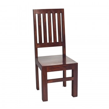 Dakota Mango Dining Chair High Slat Back (pair)
