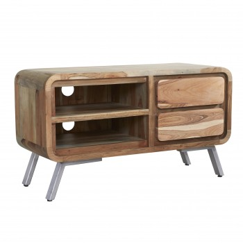 Retro Metal & Wood Medium TV Unit