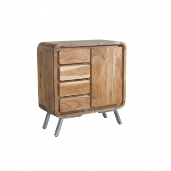 Retro Metal & Wood Medium Sideboard