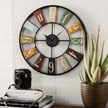 ARCHIE Metal Clock Industrial style
