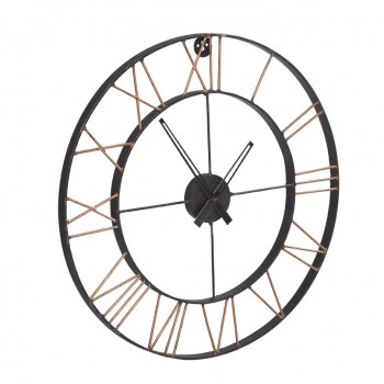 Large Industrial Style Clock Lincoln Metal