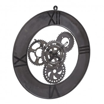 Large Industrial Style Clock Factory Metal