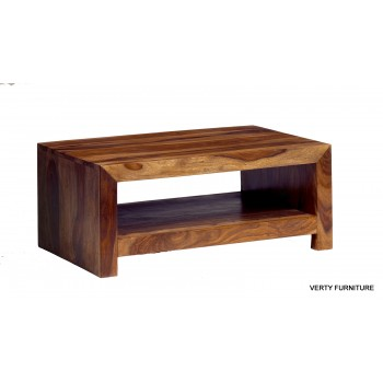 Cube Indian Wood Contemporary Coffee Table Medium