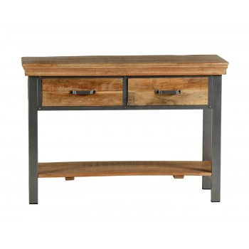 Cosmopolitan Industrial 2 Drawer Console Table