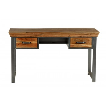 Cosmopolitan Industrial 2 Drawer Writing Desk