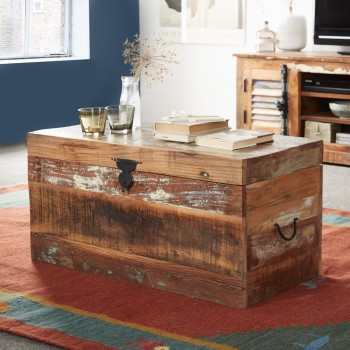 Reclaimed Boat Trunk Box