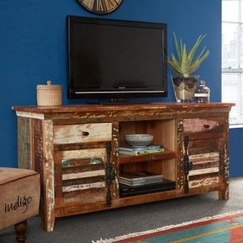 Reclaimed Boat TV Multi Media Unit