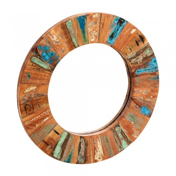 Reclaimed Boat Round Mirror Large