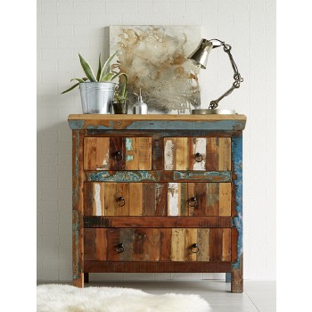 Reclaimed Boat 4 Drawer Chest