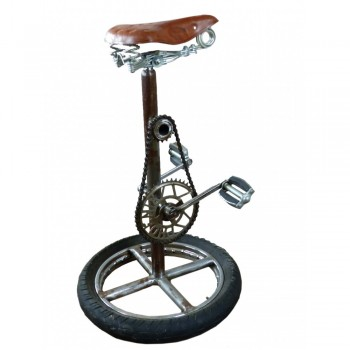 Bike Stool made from Reclaimed Metal