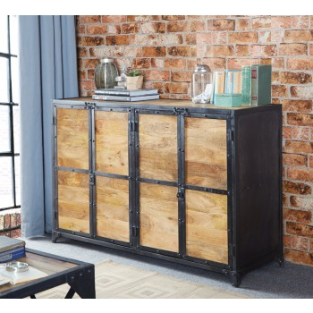 Vintage Up cycled Industrial Large Sideboard