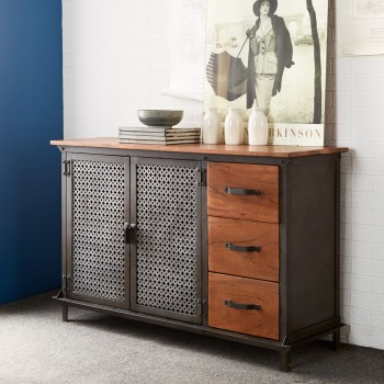 Urban Industrial 3 Drawer Sideboard