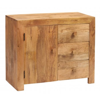Dakota Light Mango 3 Drawer Sideboard