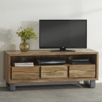 Natural Essential Live Edge Large Media Unit