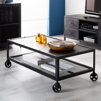 Henry Dark Metal Coffee Table