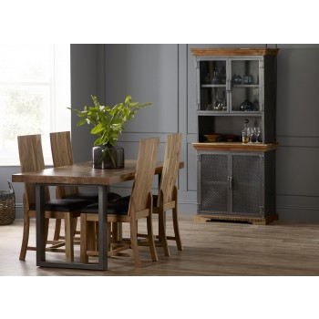 Cosmopolitan Industrial Dining Set with 4 Chairs