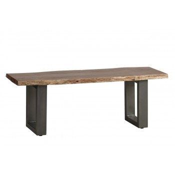 Natural Essential Live Edge Medium Dining Bench